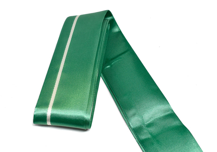 "Green Satin Ribbon for Christmas Gift Wrapping 2""- 1 Yard"