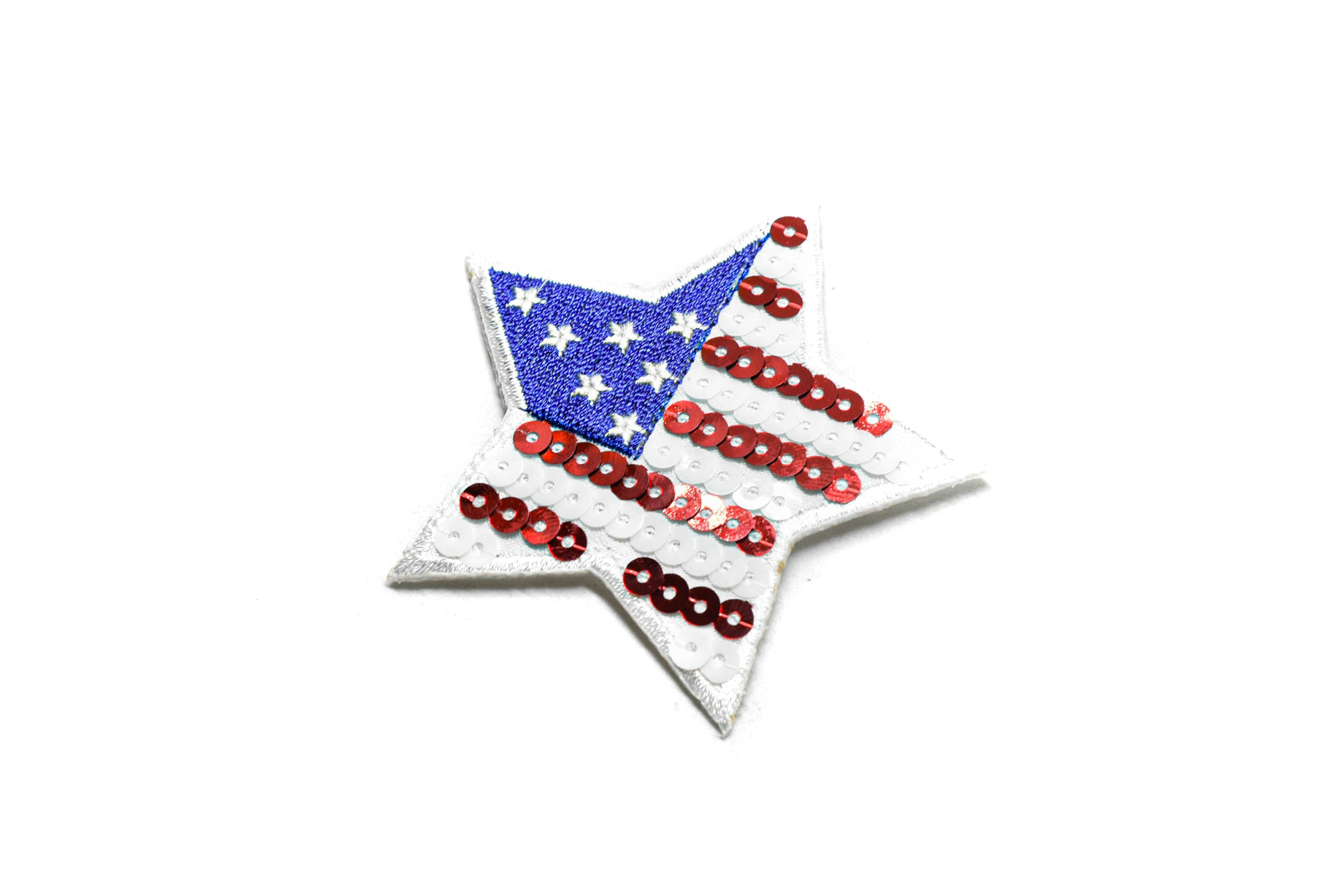 American Flag Star Patch (2 Pieces)- 3""