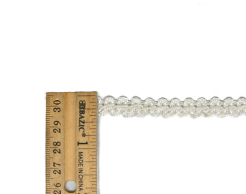 "Ivory Braided Gimp Trim 3/8"" - 1 Yard"