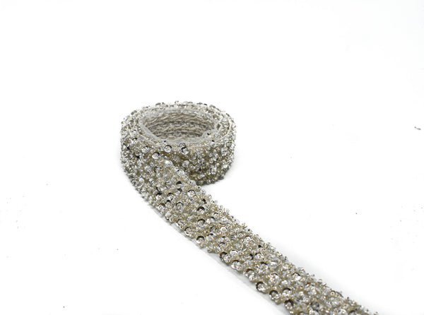 "1"" Fluffy Sequins Beaded Trim"
