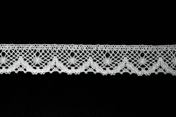 "Vintage Cotton Cluny Lace Trim 1 1/2""- 1 Yard"
