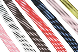 "Assorted Small Polka Dot Elastic 5/8"" - 1 Yard"