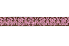 Damask Print Fold-Over Elastic 5/8