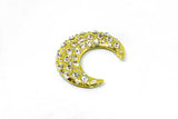 "2 1/5"" Moon Crystal Rhinestone  Brooch"