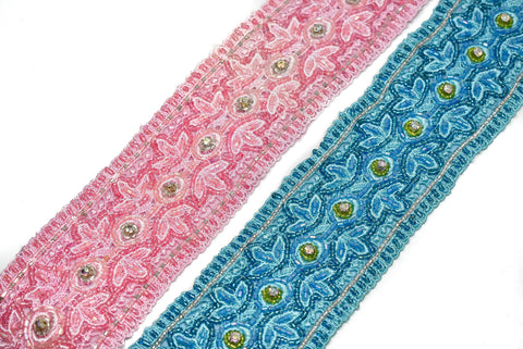 "2 1/4"" Beaded Ribbon Indian Trim"