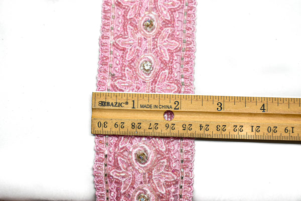 "Beaded Ribbon Indian Trim 2.25"" - 1 Yard"