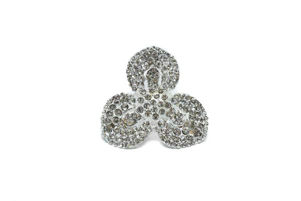 "Lily Flower Rhinestone Brooch 2""- 1 Piece"