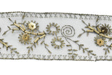 Beaded Embroidery Flower Trim