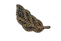 Leaf Rhinestone and Beaded Applique 4.50