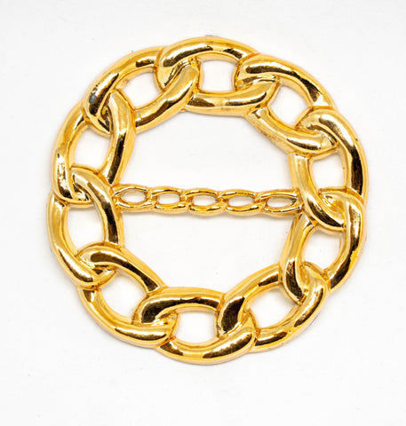 "3"" Gold Circular Chained Connector"