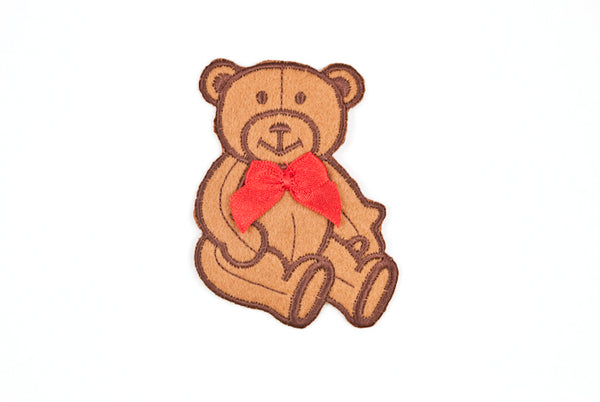 Teddy Bear with red Bow Patch - Target Trim