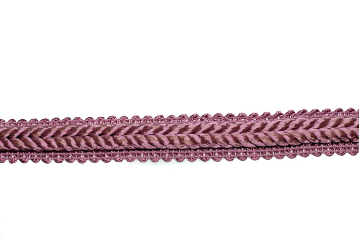 "Mauve Pink Braided Gimp Trim .50"" - 1 Yard"