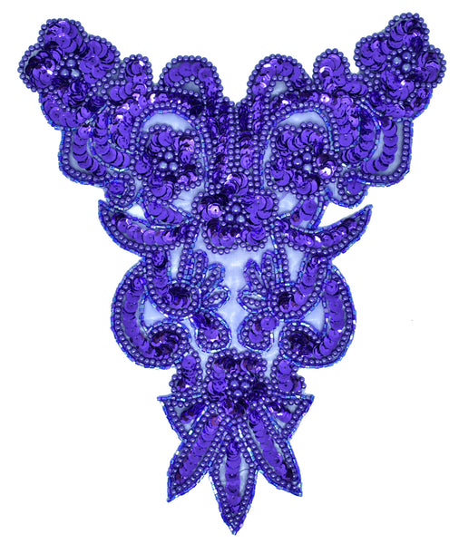 "7.5"" x 9.5"" Sequins and Beaded Applique"