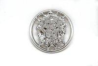 "2"" Round Lion Head Charm Buckle"