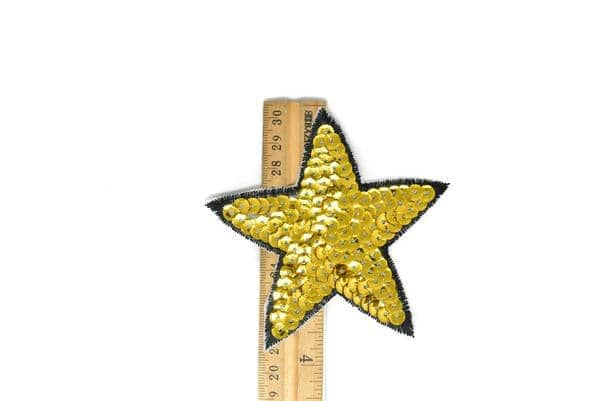 "Sequins Star Iron-On Applique Patch 3 7/8"" - 1 Piece"