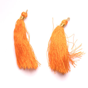 Orange with Gold Accent Tiered Tassel- Design #9