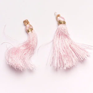 Metallic Light Pink Tiered Tassel Design #4
