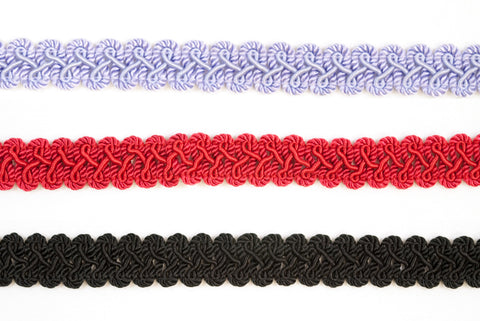 "7/8"" Braided Gimp Trim- Design 1 - Target Trim"