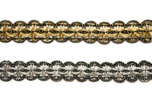 "5/8"" Metallic Braided Gimp- Design #2"
