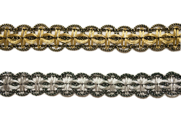 "5/8"" Metallic Braided Gimp"