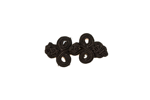 Black Chinese Frog Button Loop - Closure - Target Trim