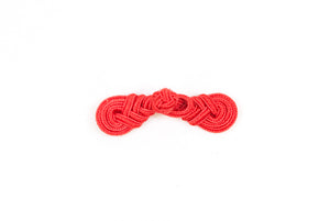 Red Knotted Chinese Frog Button - Closures