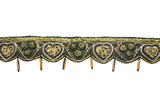 Hand-crafted Indian Trim / Embellished with Bugle bead with Rose Pattern Adornment