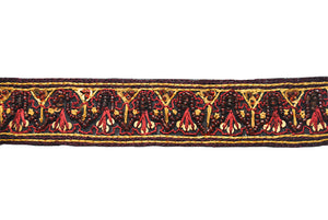 Maroon Red Handcrafted Indian Beaded Trim