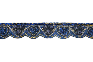 Hand Beaded Flower Design Indian Trim