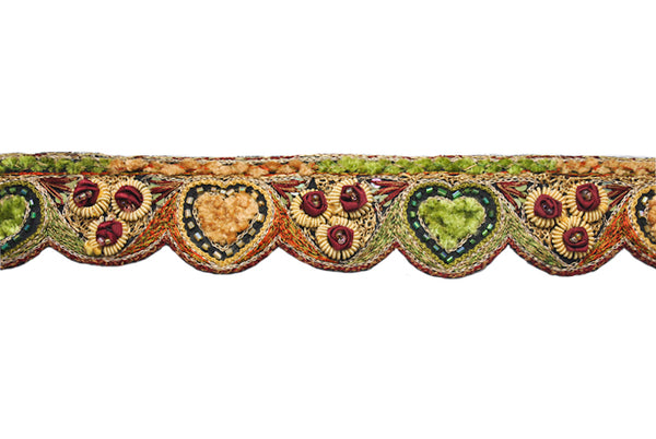 Hand Beaded Flower Design Indian Trim - Target Trim