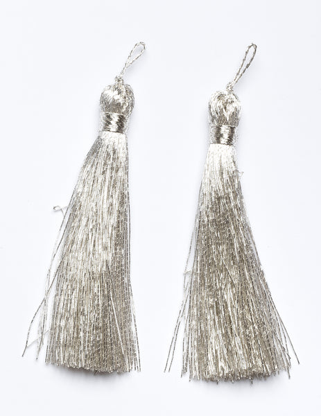 Metallic Silver Tiered Tassel Design 1 - Target Trim