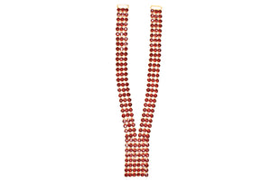 Red Gem Stone Applique / Neck Piece (Necklace) Gold Casing / Fancy
