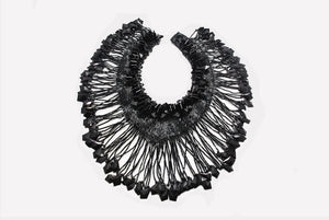 Full Neck-covering Necklace / Applique / Fancy with Beads & Fringe