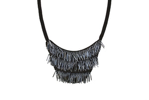 Bib-type Neck Piece (Necklace) /  Dance Costume / Fringy / Vintage Flapper