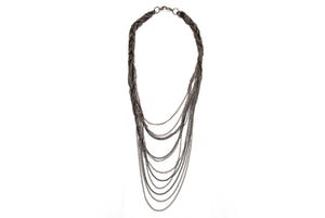 Fashionable Gunmetal Entwined Neck Piece (Necklace)