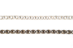 8mm Sparkly  / Shiny Crystal Rhinestone /  Chain Trimming / Crystal Bead Chain