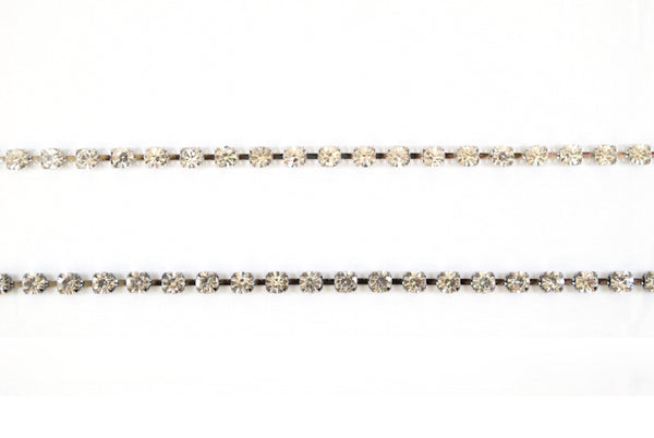 6mm Sparkly  / Shiny Crystal Rhinestone /  Chain Trimming / Crystal Bead Chain