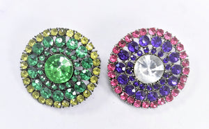 Multi-Color  Rhinestone Connector| Yellow Green Rhinestone Connector| Pink Purple Rhinestone Gemstone Slider | Colorful Slider With Gemstone