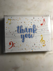 Musical Thank You Thank-You Cards