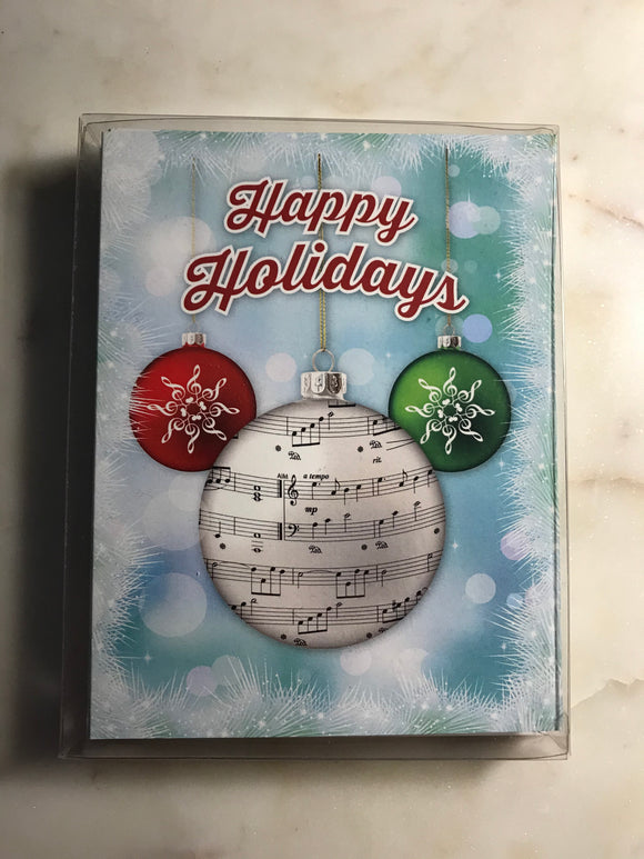 Happy Holidays Ornaments Holiday Cards