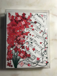 Floral Sheet Music Cards