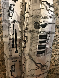 Musical Fashion Scarf (White)
