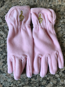 Treble Clef Gloves (Pink)