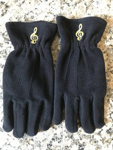 Treble Clef Gloves (Black)