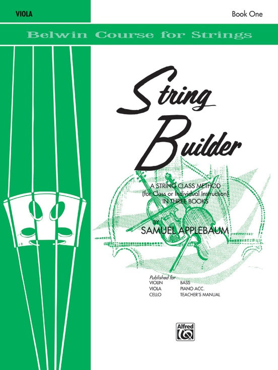 Belwin Course for Strings, String Builder: Viola, Book 1
