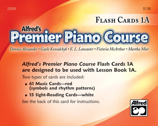 Alfred's Premier Piano Course: Flash Cards (1A)
