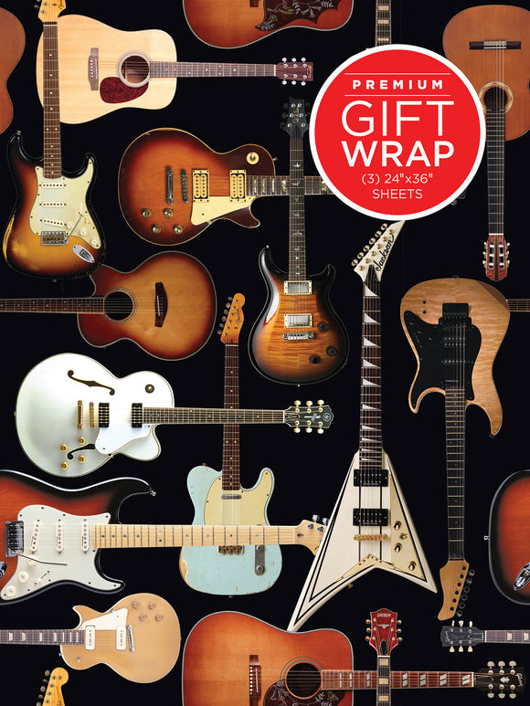 Guitar Collage Wrapping Paper