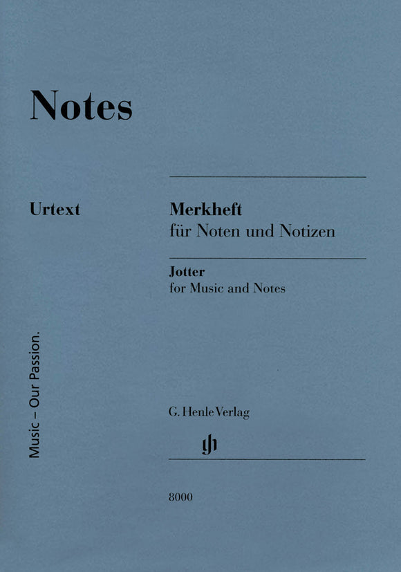 Notes (A Miniature Booklet of 8-Stave Manuscript Paper)