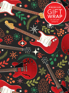 Red Guitars Wrapping Paper