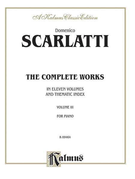Scarlatti The Complete Works, Volume III